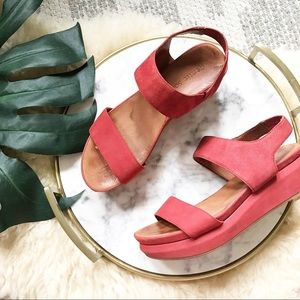 Gentle Souls • Step Ahead Platform Suede Sandal